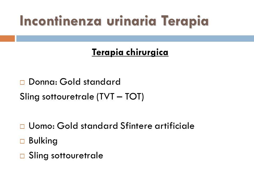 Incontinenza urinaria Terapia