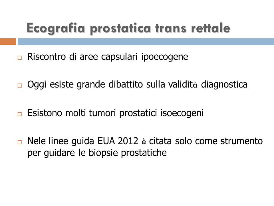 Ecografia prostatica trans rettale