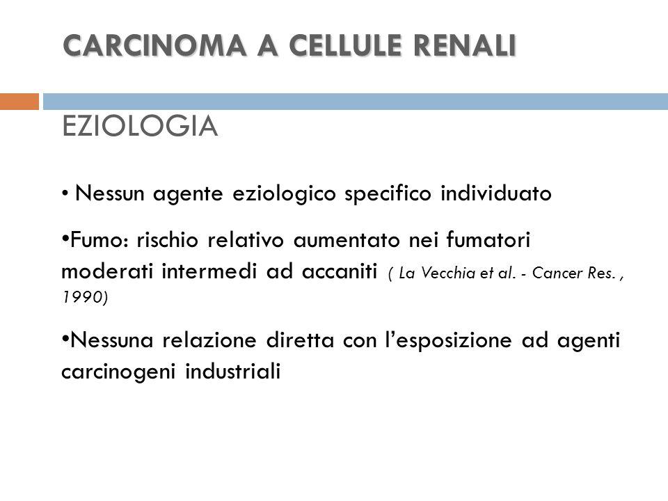 CARCINOMA A CELLULE RENALI EZIOLOGIA