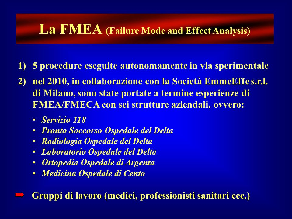 La FMEA (Failure Mode and Effect Analysis)