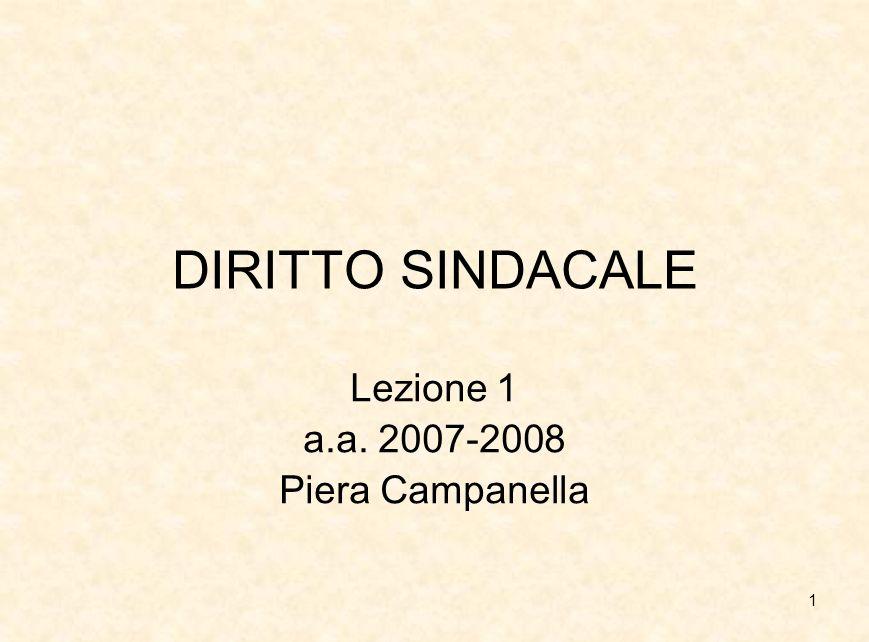 Lezione 1 a.a. 2007-2008 Piera Campanella