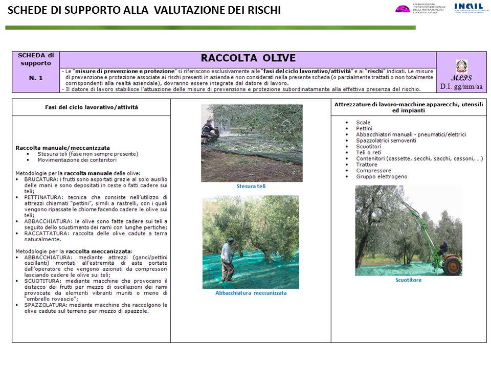 SCHEDE DI SUPPORTO ALLA VALUTAZIONE DEI RISCHI