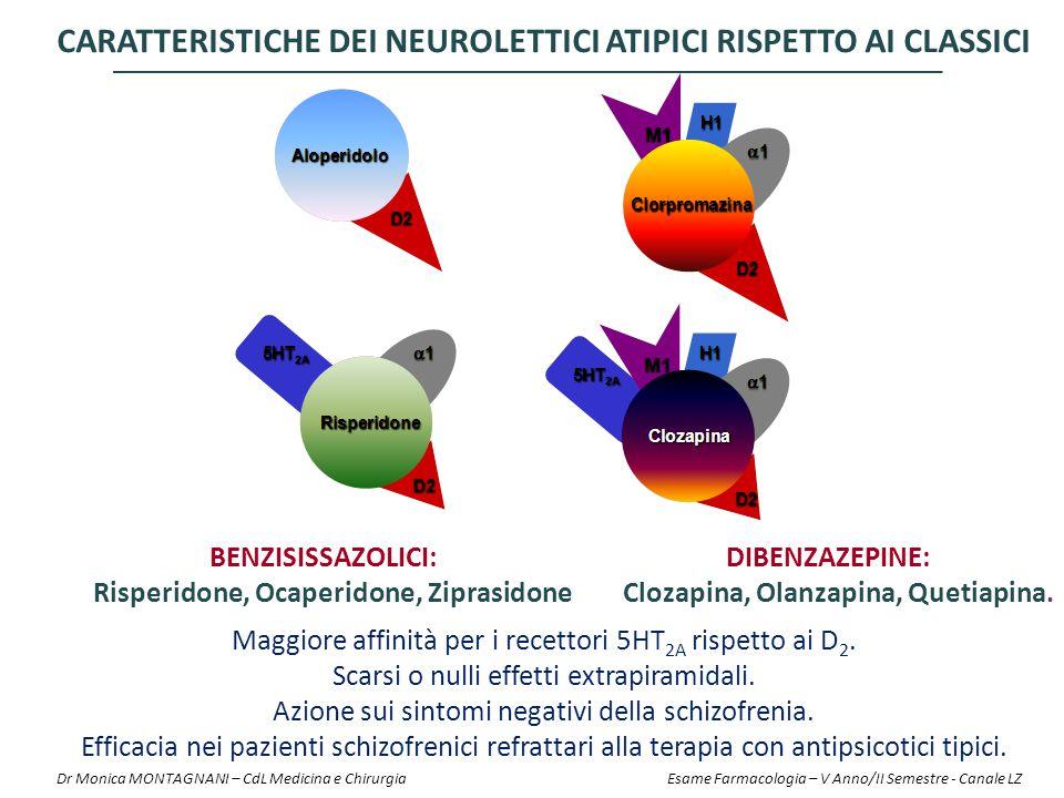CARATTERISTICHE DEI NEUROLETTICI ATIPICI RISPETTO AI CLASSICI