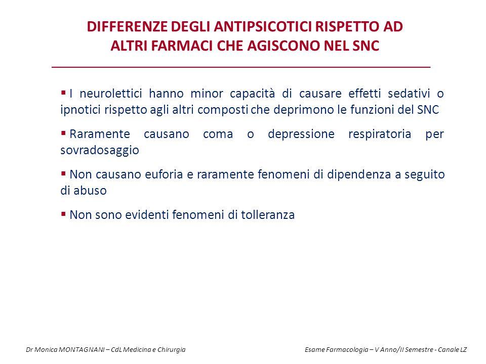 Differenze degli antipsicotici rispetto ad