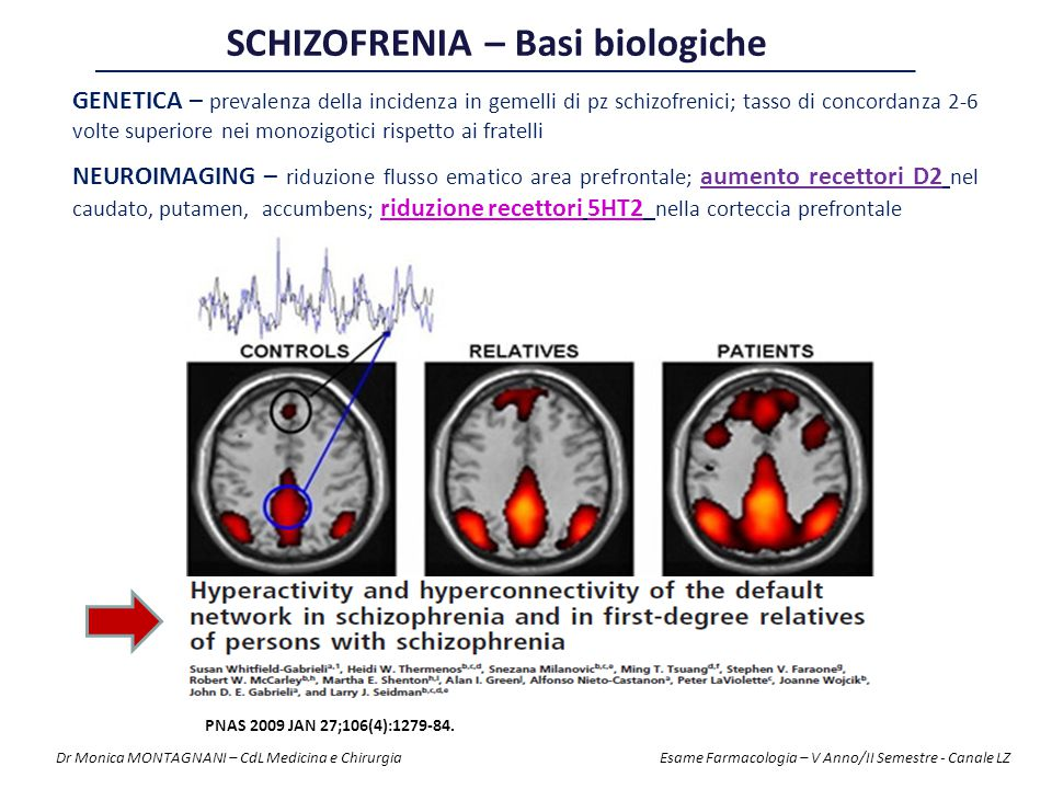 SCHIZOFRENIA – Basi biologiche