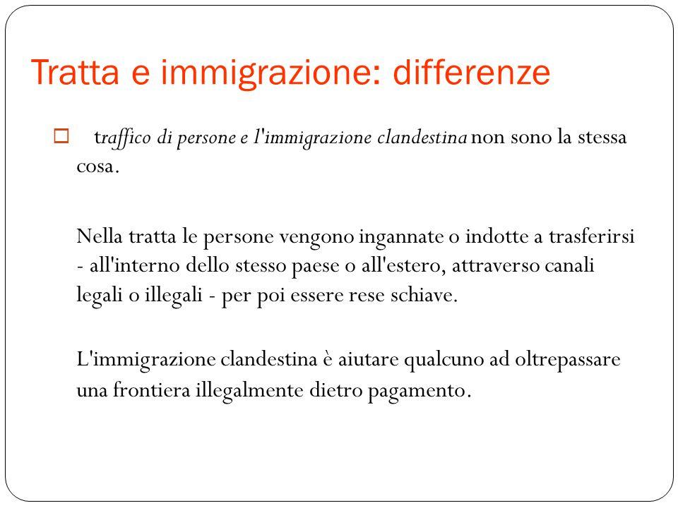 Tratta e immigrazione: differenze