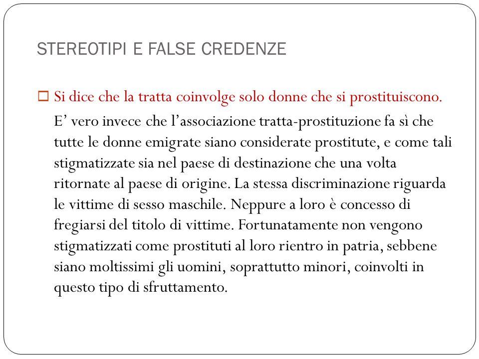STEREOTIPI E FALSE CREDENZE