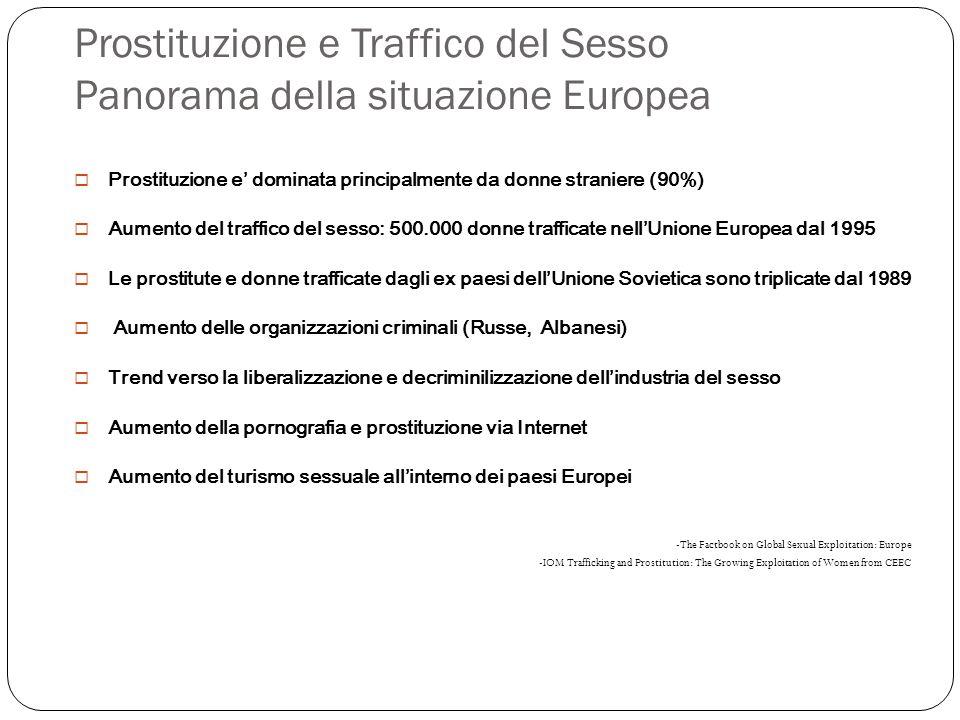 Prostituzione e Traffico del Sesso Panorama della situazione Europea