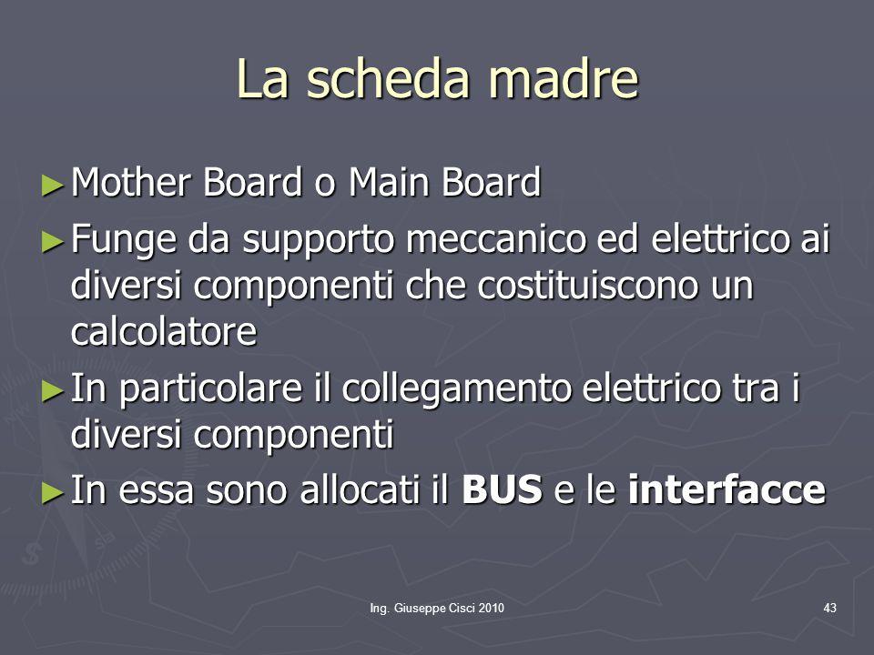 La scheda madre Mother Board o Main Board