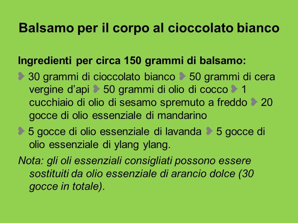 Balsamo per il corpo al cioccolato bianco