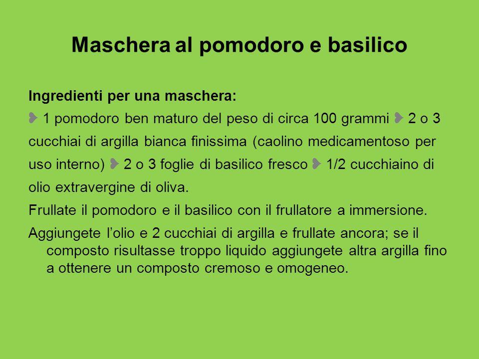Maschera al pomodoro e basilico