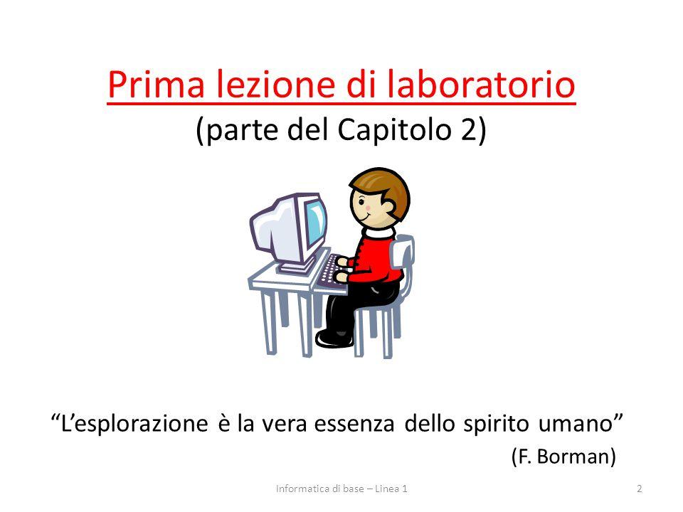 Prima lezione di laboratorio (parte del Capitolo 2)