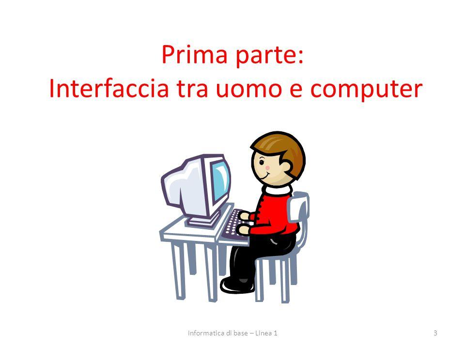 Prima parte: Interfaccia tra uomo e computer