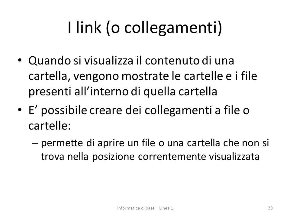 I link (o collegamenti)