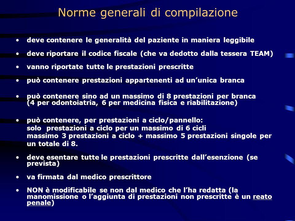Norme generali di compilazione