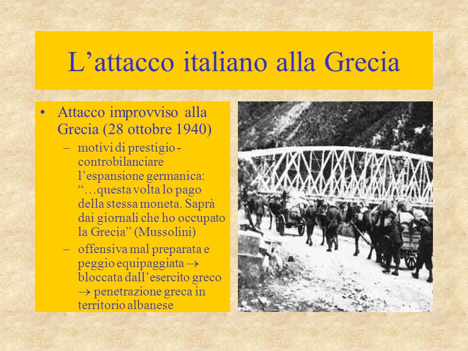 L'attacco italiano alla Grecia