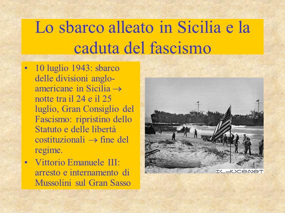 Lo sbarco alleato in Sicilia e la caduta del fascismo