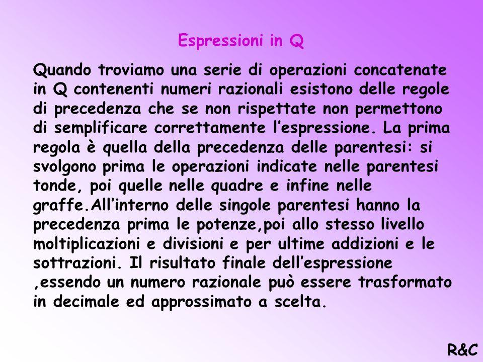 Espressioni in Q