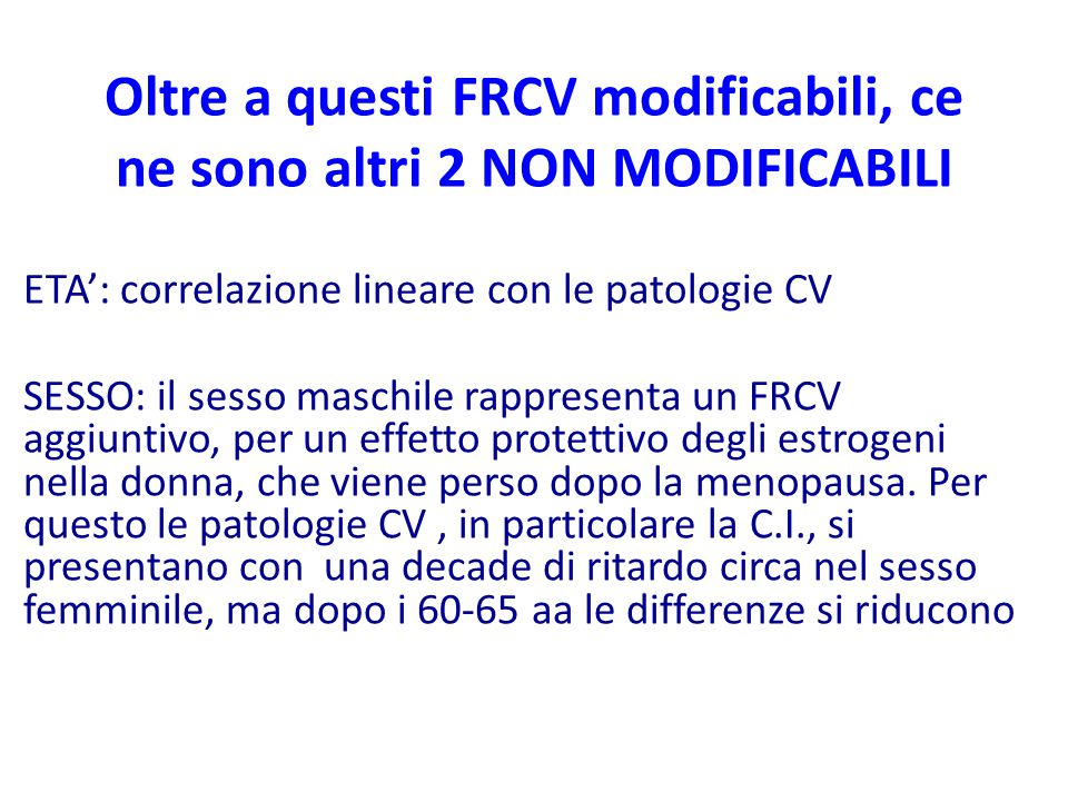 Oltre a questi FRCV modificabili, ce ne sono altri 2 NON MODIFICABILI