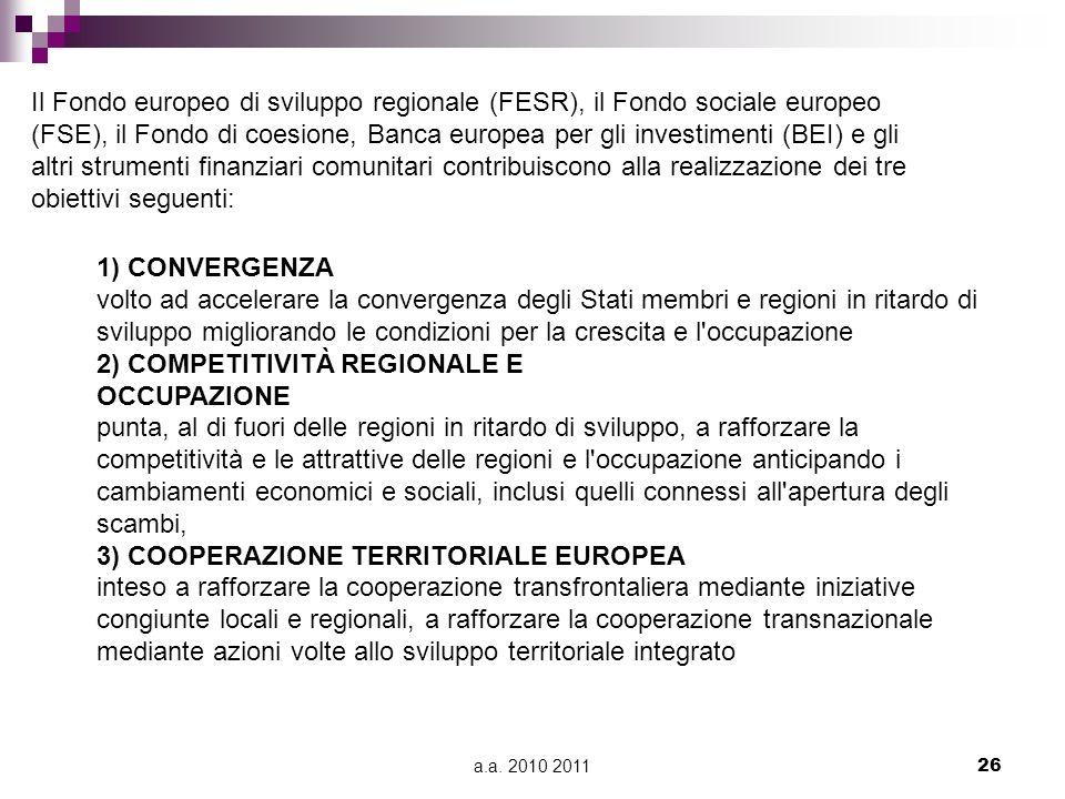 2) COMPETITIVITÀ REGIONALE E OCCUPAZIONE