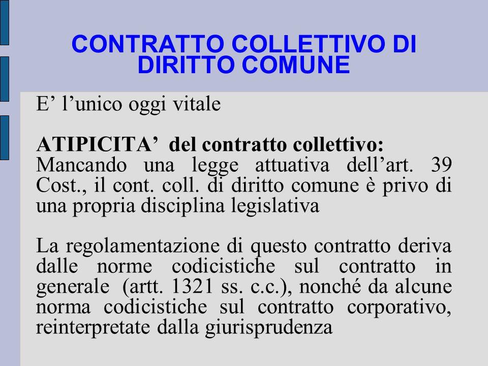 CONTRATTO COLLETTIVO DI DIRITTO COMUNE