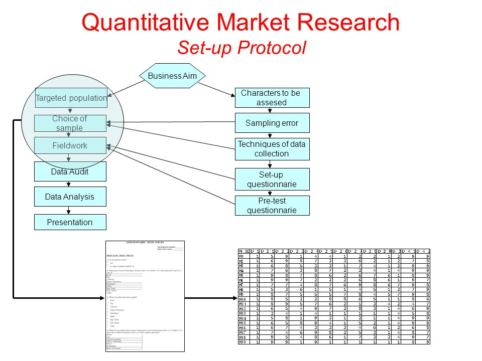 Quantitative Market Research Set-up Protocol