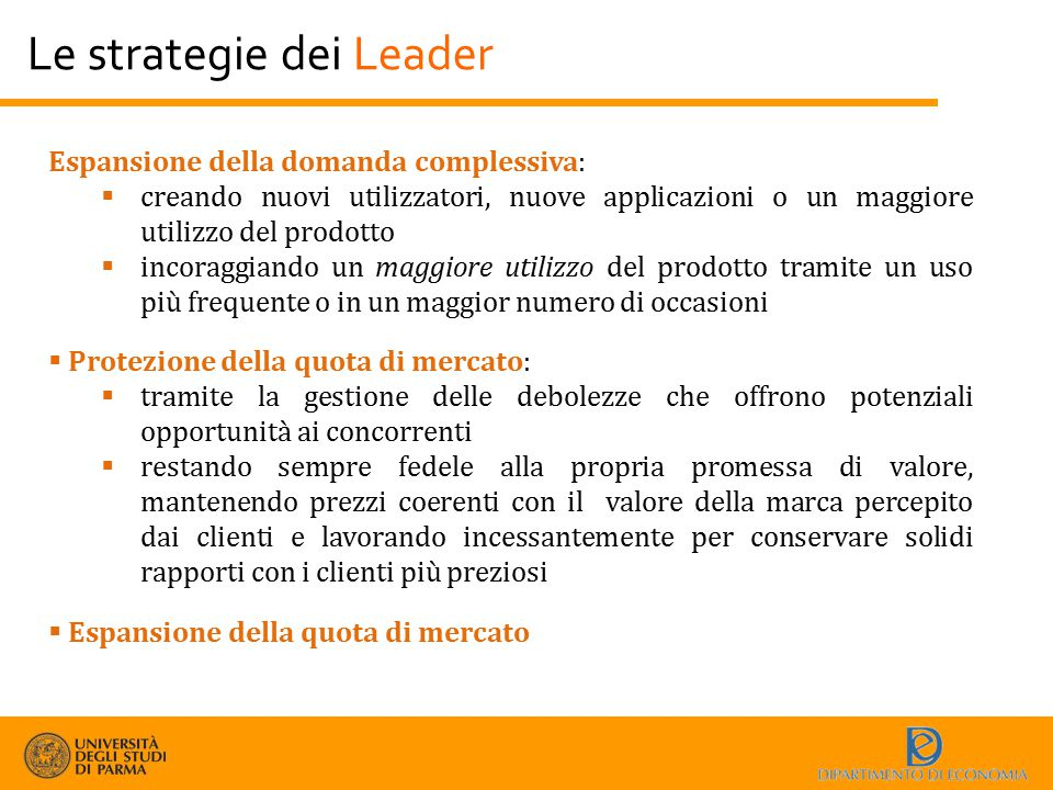 Le strategie dei Leader
