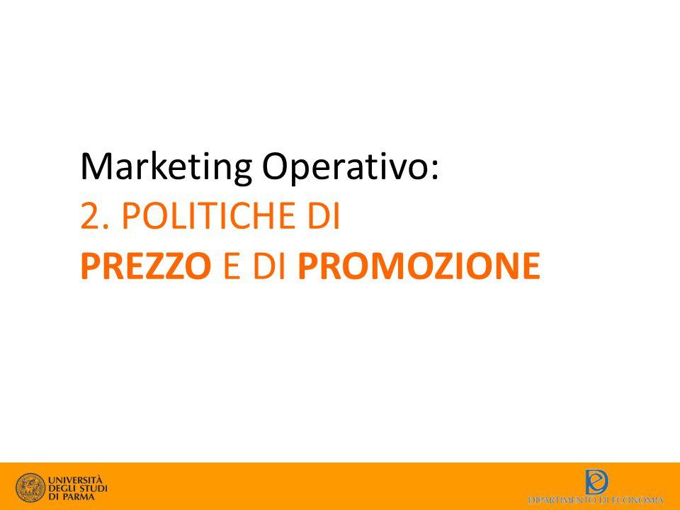 Marketing Operativo: 2. POLITICHE DI PREZZO E DI PROMOZIONE