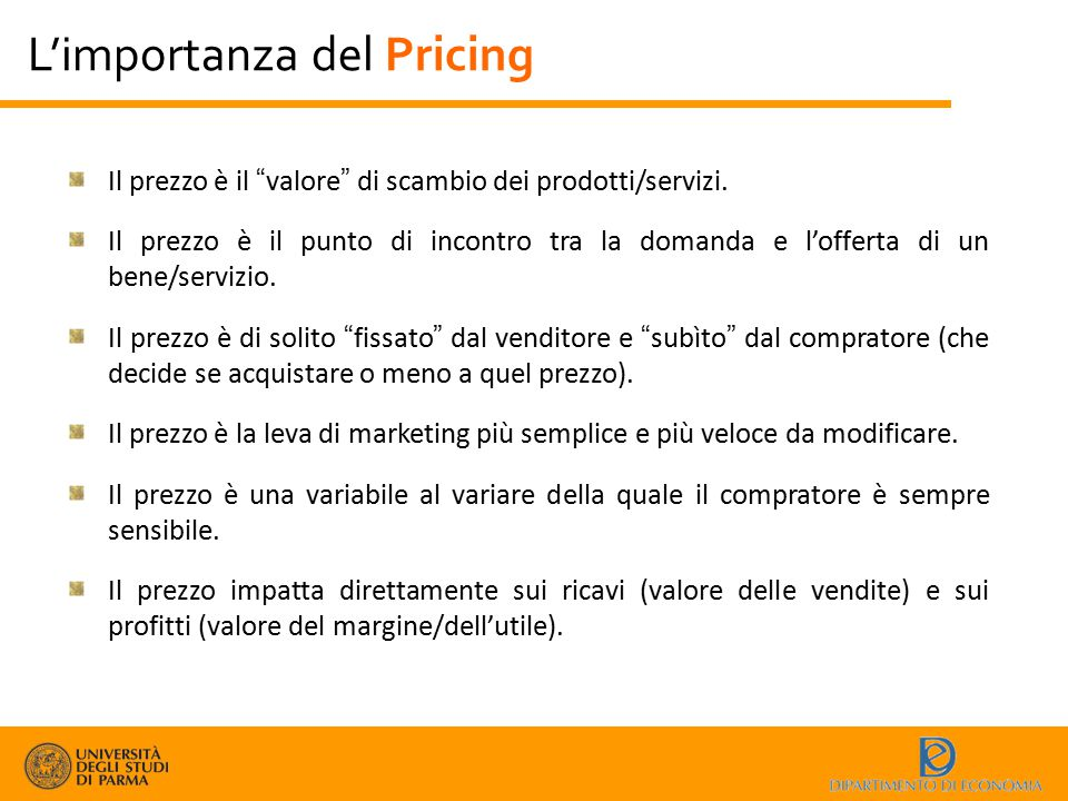L'importanza del Pricing