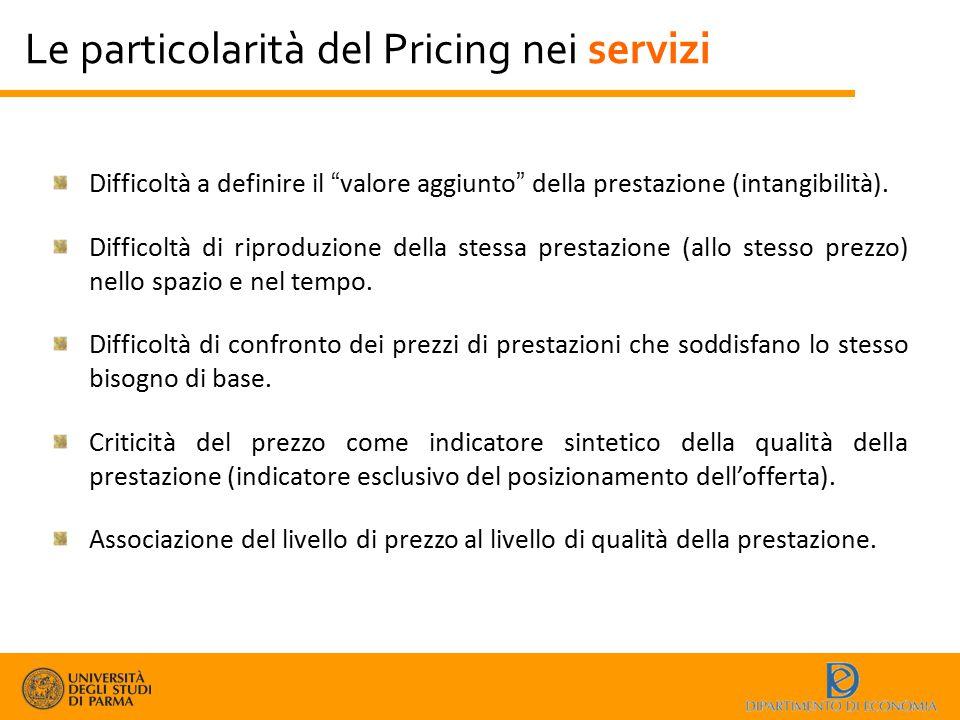 Le particolarità del Pricing nei servizi