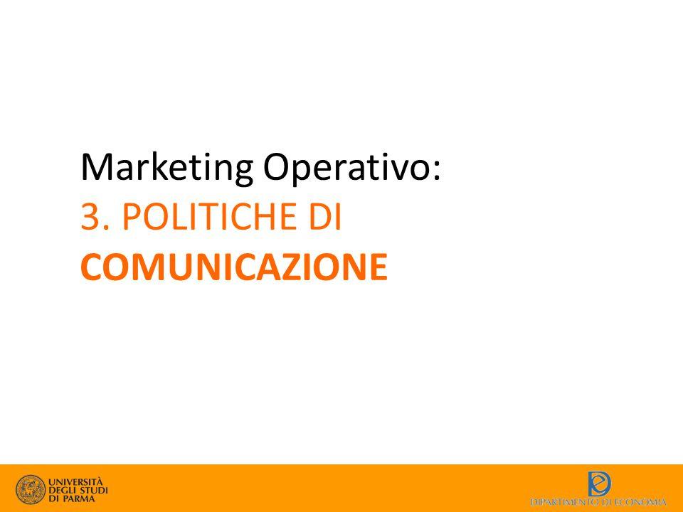 Marketing Operativo: 3. POLITICHE DI COMUNICAZIONE