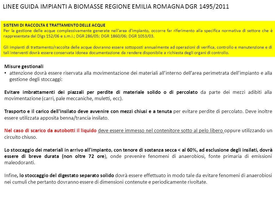 LINEE GUIDA IMPIANTI A BIOMASSE REGIONE EMILIA ROMAGNA DGR 1495/2011