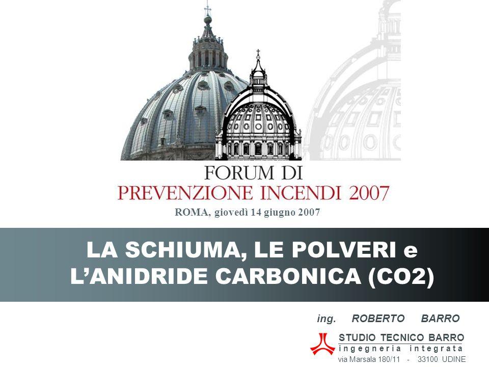 LA SCHIUMA, LE POLVERI e L'ANIDRIDE CARBONICA (CO2)