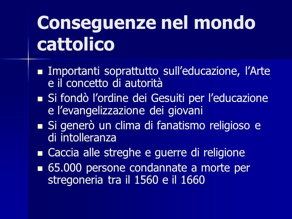 Conseguenze nel mondo cattolico