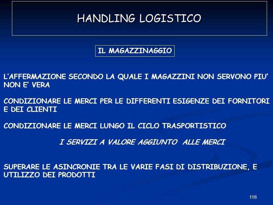HANDLING LOGISTICO IL MAGAZZINAGGIO