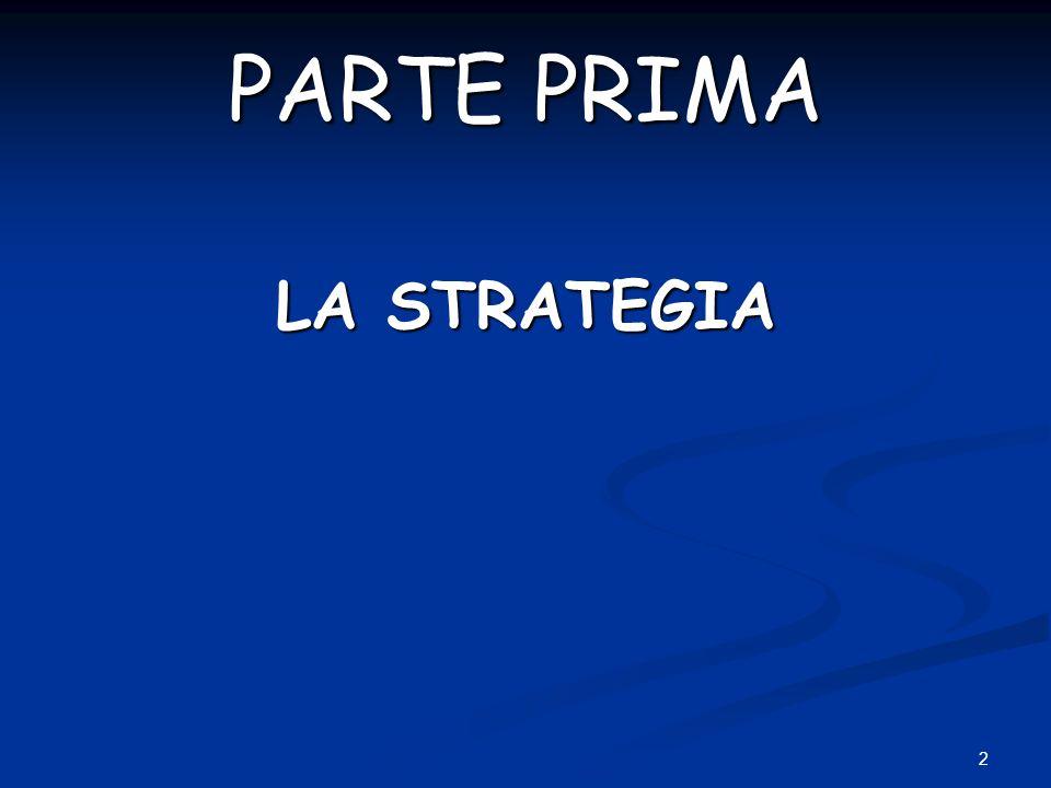 PARTE PRIMA LA STRATEGIA