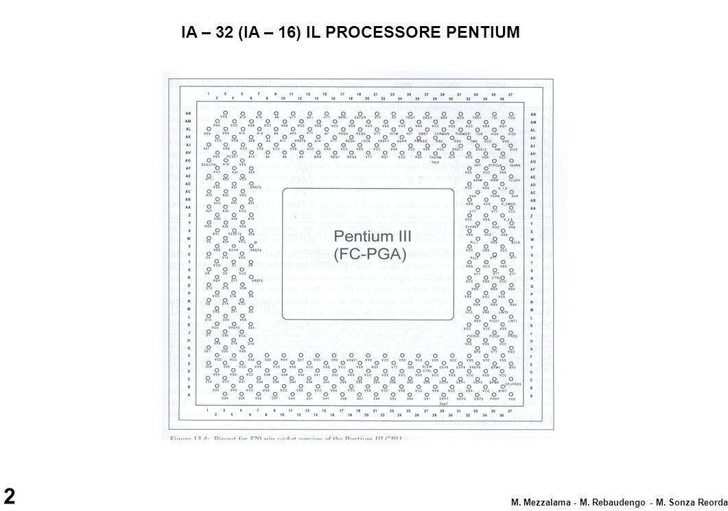 IA – 32 (IA – 16) IL PROCESSORE PENTIUM