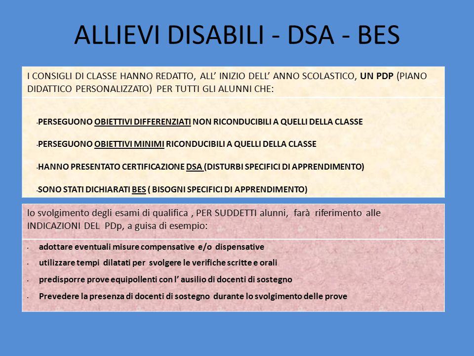 ALLIEVI DISABILI - DSA - BES
