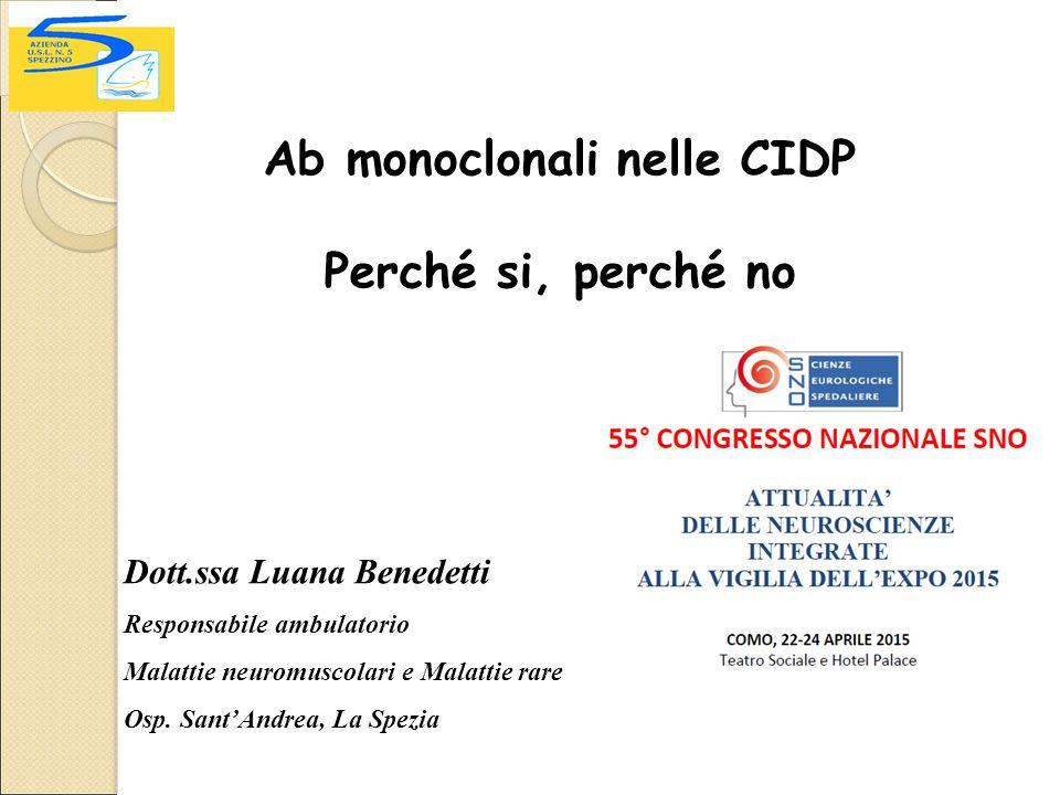 Ab monoclonali nelle CIDP