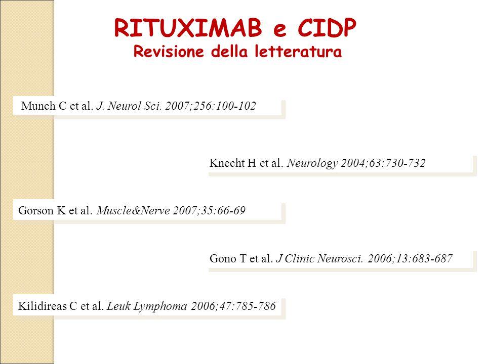 RITUXIMAB e CIDP Revisione della letteratura