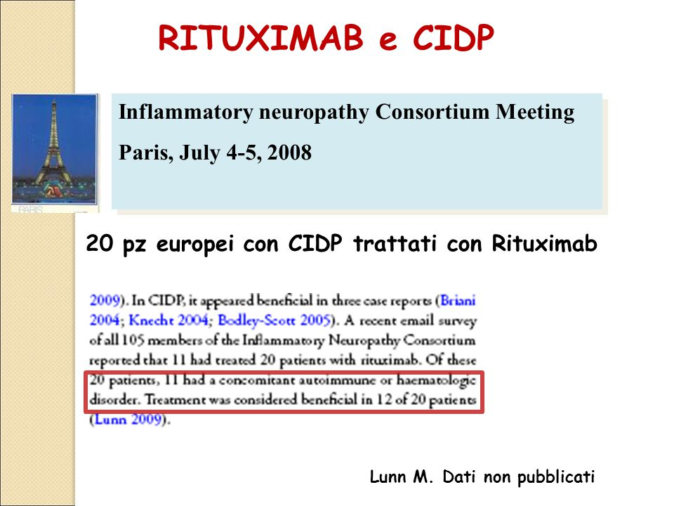 RITUXIMAB e CIDP Inflammatory neuropathy Consortium Meeting
