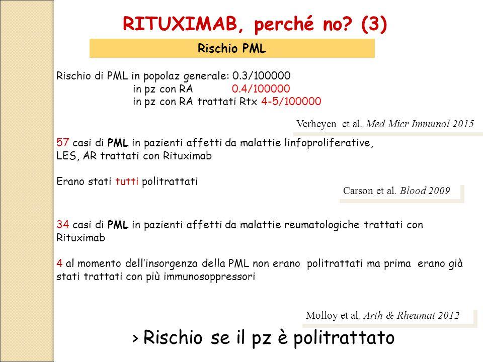 RITUXIMAB, perché no (3) > Rischio se il pz è politrattato
