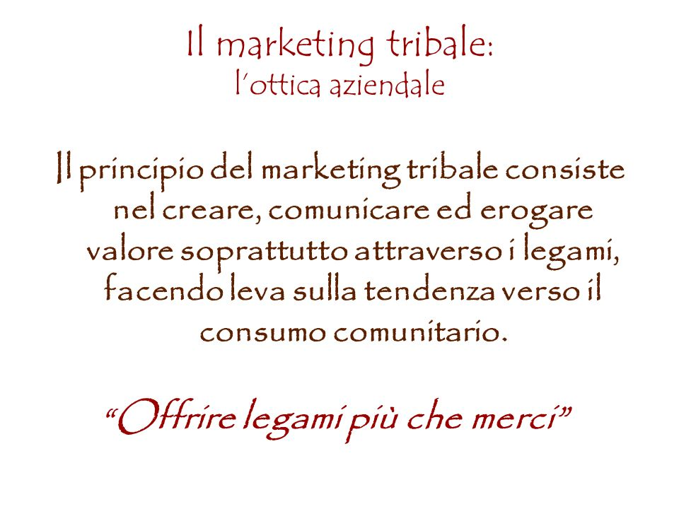 Il marketing tribale: l'ottica aziendale