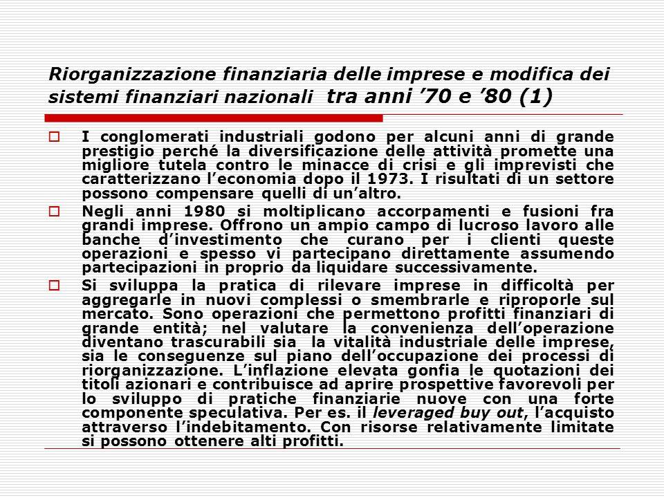 Riorganizzazione finanziaria delle imprese e modifica dei sistemi finanziari nazionali tra anni '70 e '80 (1)