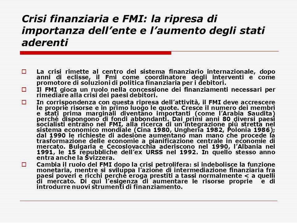 Crisi finanziaria e FMI: la ripresa di importanza dell'ente e l'aumento degli stati aderenti
