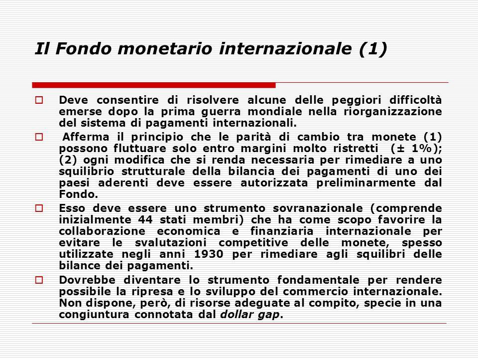 Il Fondo monetario internazionale (1)