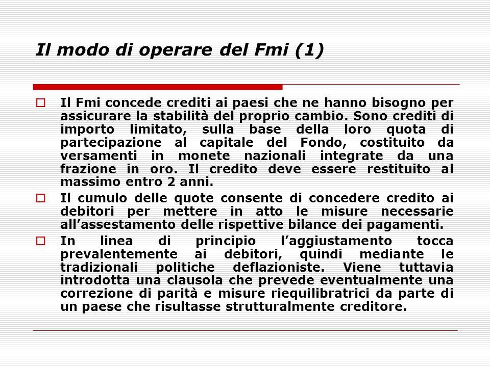 Il modo di operare del Fmi (1)