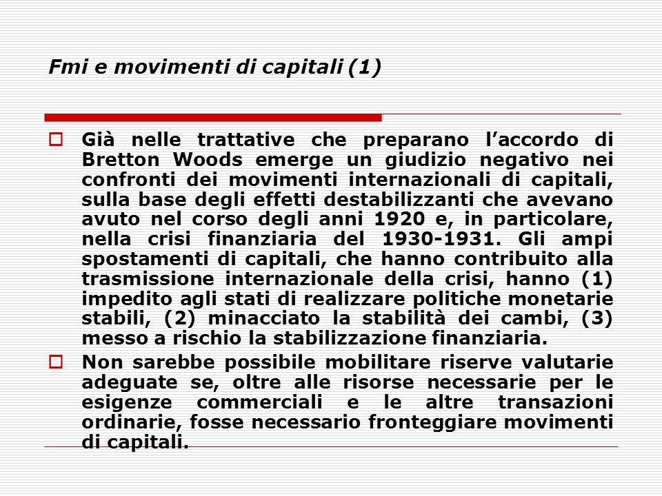 Fmi e movimenti di capitali (1)
