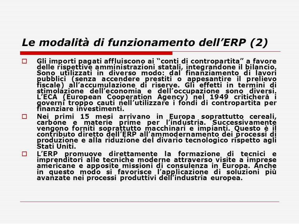 Le modalità di funzionamento dell'ERP (2)