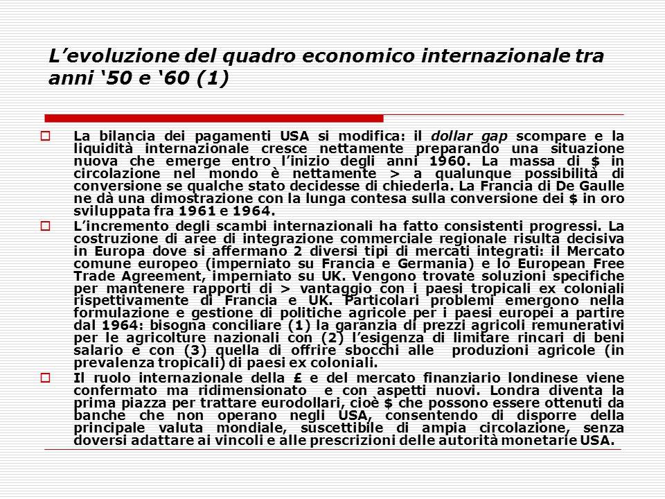 L'evoluzione del quadro economico internazionale tra anni '50 e '60 (1)